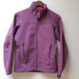 Patagonia rose pink soft shell jacket